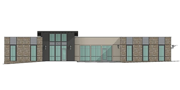 north elevation of building 2