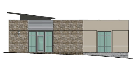 rendering of an office or retail space