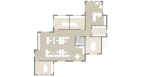 floor plan 2 for building 3 at Dominion Place
