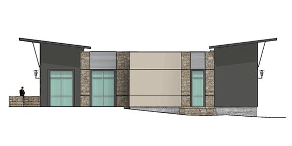 west elevation of building 3