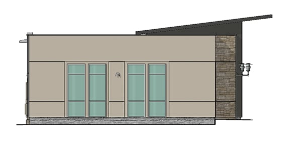 rendering of office suite side view