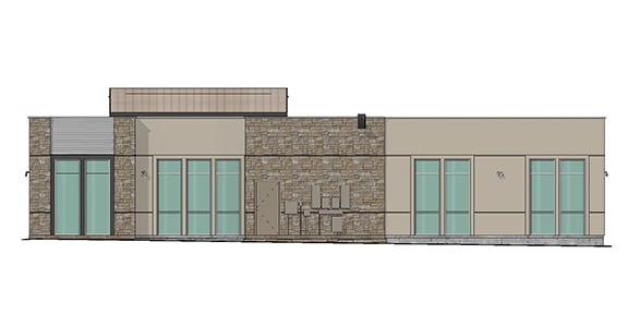 rendering of west elevation for building 06 at Dominion Place