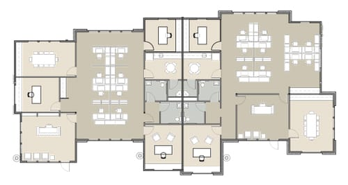 image of a floor plan for an office suite