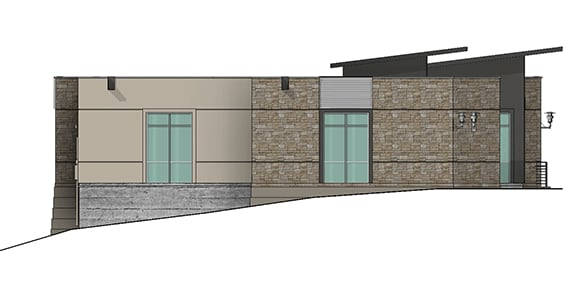 west elevation of building 9 at Dominion Place