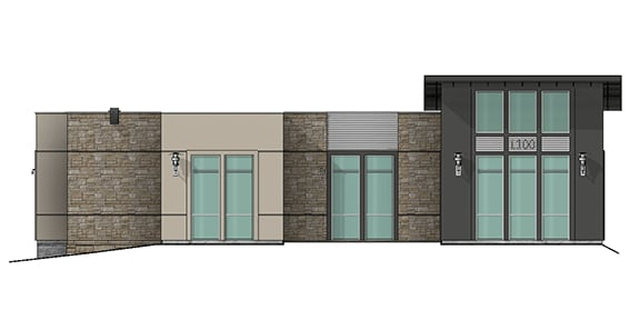 north elevation render of building 11 at Dominion Place