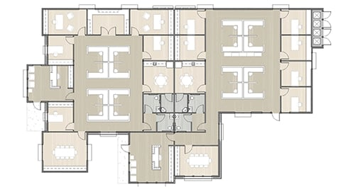 office building floor plan with 12 offices