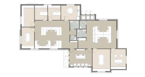 floor plan for office building at Dominion Place